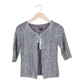 Kate Moss Topshop Grey Sequins Cardigan