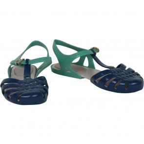 Melissa Green And Blue T-Bar Sandals
