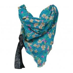 Zara Blue Floral Scarf