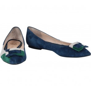 Staccato Dark Blue Flats
