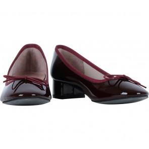 Pazzion Maroon Ballerina Patent Heels