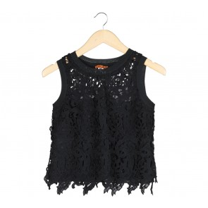 Carla Black Embroidered Sleeveless