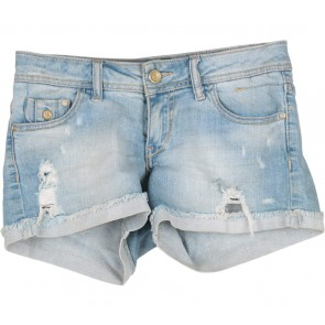 Pull & Bear Blue Denim Ripped Short Pants