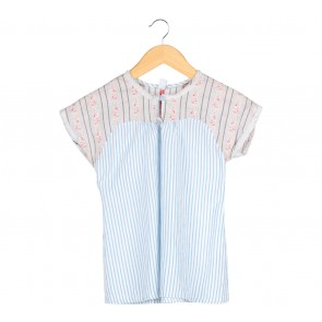 Zara Multi Colour Striped Blouse