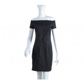 Ezra Black Boat Neck Mini Dress