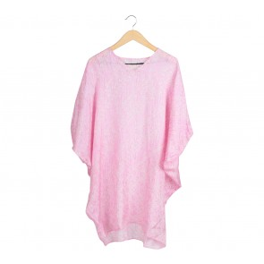 Kaetnik Pink And Cream Batwing Mini Dress