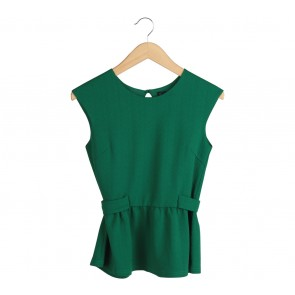 N.Y.L.A Green Peplum Sleeveless