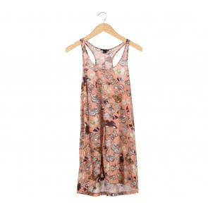 H&M Peach Sleeveless Mini Dress