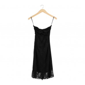 Icons Black Tube Lace Mini Dress