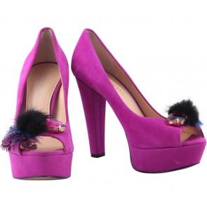 Enzo Angiolini Purple Heels