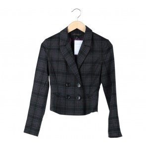 Express Grey Plaid Blazer