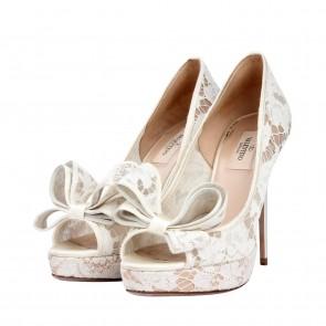 Valentino White Heels
