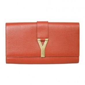 Yves Saint Laurent Red Clutch