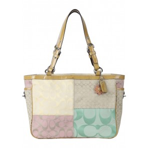 Coach Multi Colour Patchwork Tote Bag