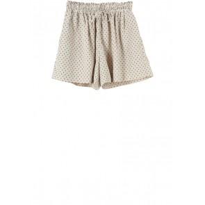 UNIQLO Cream And Black Polka Dot Short Pants