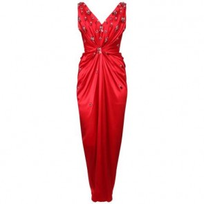 Biyan Red Midi Dress