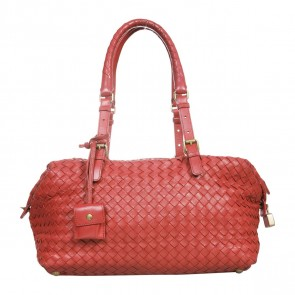 Bottega Veneta Red Shoulder Bag