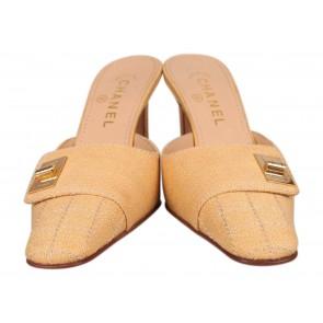 Chanel Yellow Heels