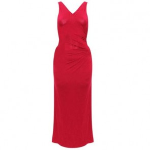Donna Karan Red Midi Dress