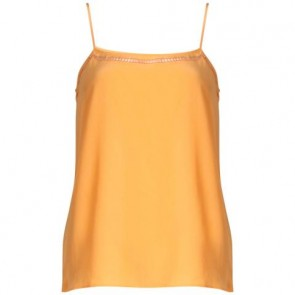 Equipment Femme Orange Sleeveless
