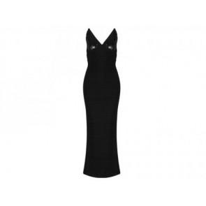 Herve Leger Black Long Dress