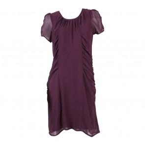 B.L.F Purple Drapped Midi Dress