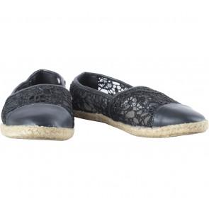 Shubar Black Lace Flats