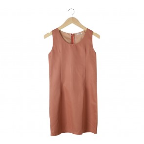 Velvet Pink Midi Dress