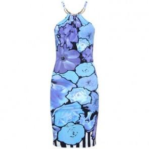 Roberto Cavalli Blue Midi Dress