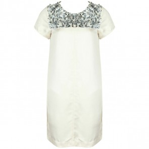 Vera Wang Lavender Label Cream Midi Dress