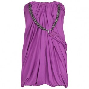 Yigal Azrouel Purple Midi Dress
