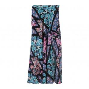 Topshop Multi Colour Floral Slit Skirt