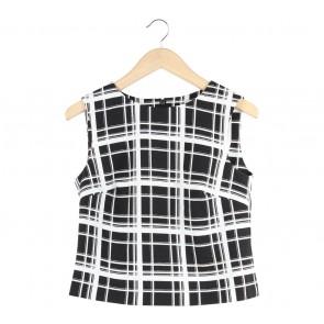 Marks & Spencer Black And White Sleeveless