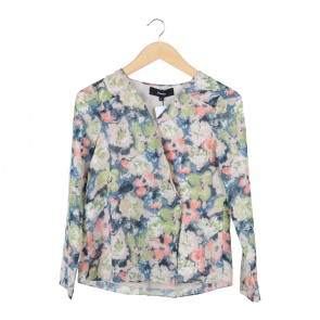Pomelo. Multi Colour Floral Wrap Blouse