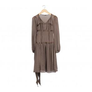 BCBG Maxazria Brown Midi Dress