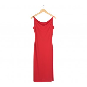Witchery Red Backless Midi Dress