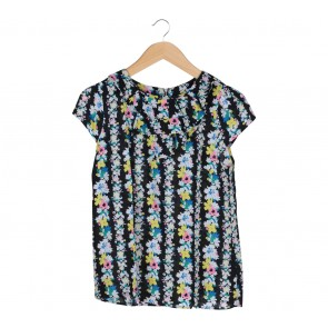 Oasis Black Floral Blouse