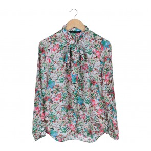 Zara Multi Colour Floral Blouse
