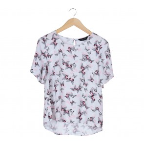 Dorothy Perkins White Butterfly Blouse