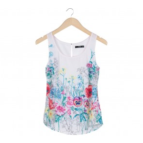 Oasis White Floral Sleeveless