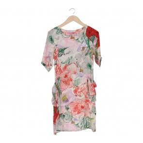 Stella McCartney Multi Colour Floral Midi Dress