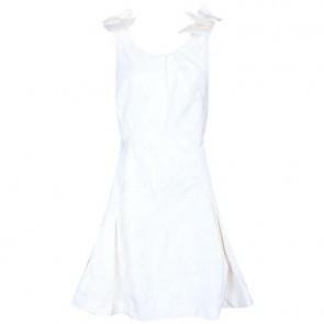 Louis Vuitton Off White Midi Dress