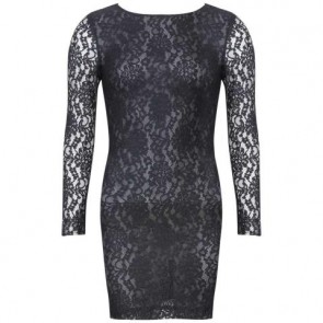 McQ Alexander McQueen Black Mini Dress