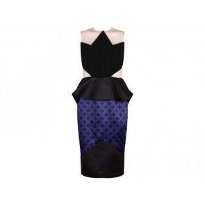 Peggy Hartanto Black Midi Dress