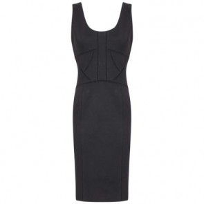 Robert Rodriguez Black Midi Dress