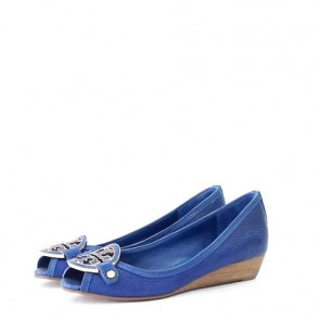 Tory Burch Blue Wedges