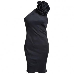 Tracy Reese Black Midi Dress