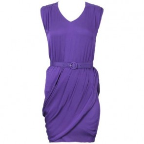 Alice + Olivia Purple Midi Dress