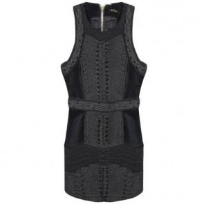 Balmain X H&M Black Midi Dress