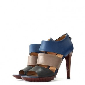 Bottega Veneta Blue And Grey Heels